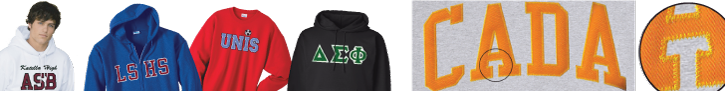 Tackle Twill Applique Letter sweatshirt